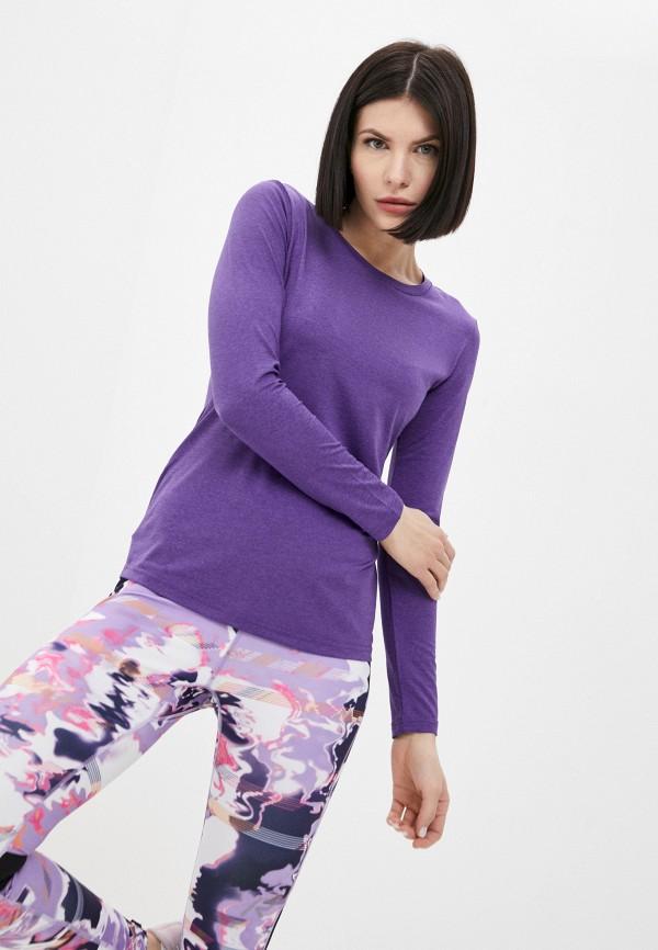 женский лонгслив rukka, фиолетовый