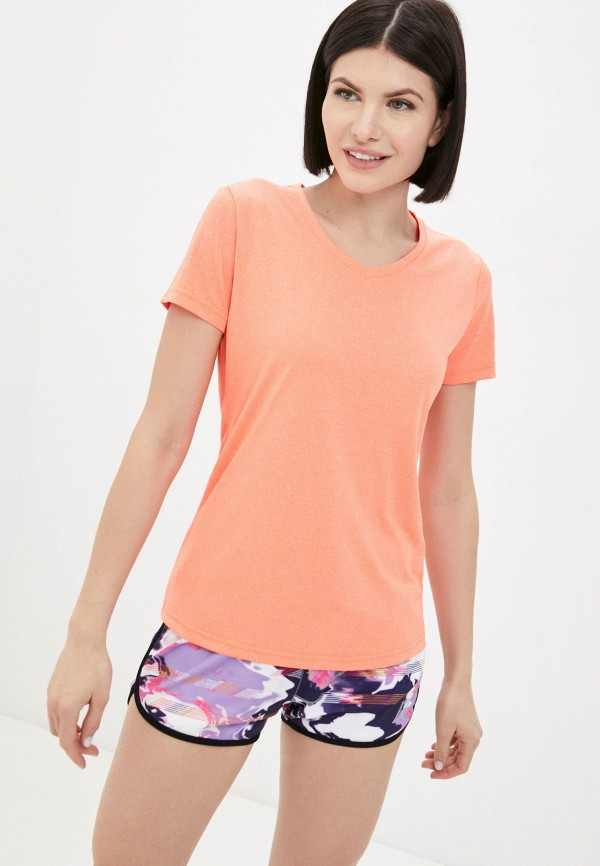 женская спортивные футболка rukka, оранжевая