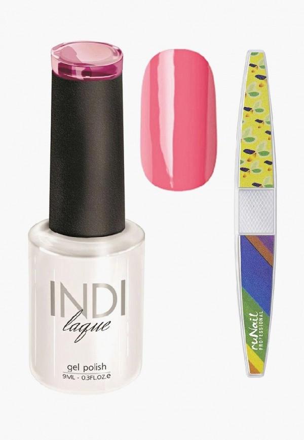 Купить Набор для ухода за ногтями Runail Professional, пилка для ногтей и Гель-лак INDI laque Тон №3070, 9 мл, RU010LWCORD7, розовый, Осень-зима 2018/2019
