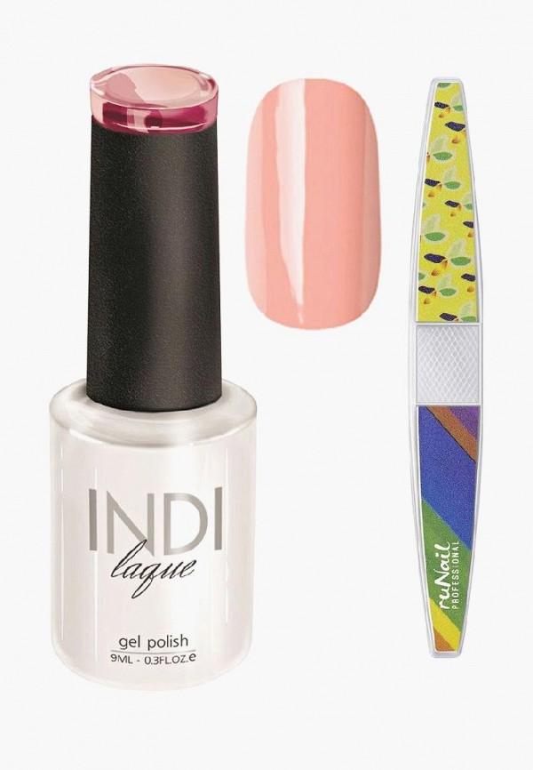 Купить Набор для ухода за ногтями Runail Professional, пилка для ногтей и Гель-лак INDI laque Тон №3071, 9 мл, RU010LWCORD8, розовый, Осень-зима 2018/2019