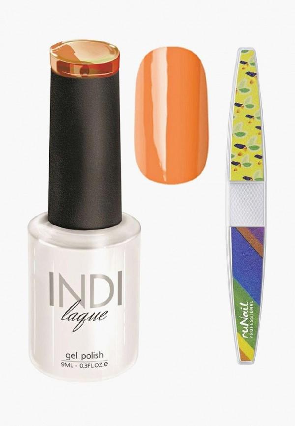 Купить Набор для ухода за ногтями Runail Professional, пилка для ногтей и Гель-лак INDI laque Тон №3073, 9 мл, RU010LWCORE4, оранжевый, Осень-зима 2018/2019