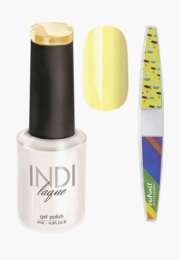 Купить Набор для ухода за ногтями Runail Professional, пилка для ногтей и Гель-лак INDI laque Тон №3076, 9 мл, RU010LWCORE5, желтый, Осень-зима 2018/2019
