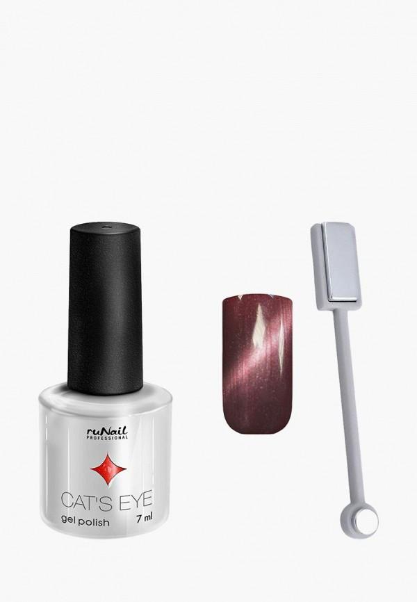 Купить Набор для ухода за ногтями Runail Professional, магнит и Гель-лак Cat's eye серебристый блик, цвет: Бенгальская кошка, RU010LWCWHK0, коричневый, Осень-зима 2018/2019