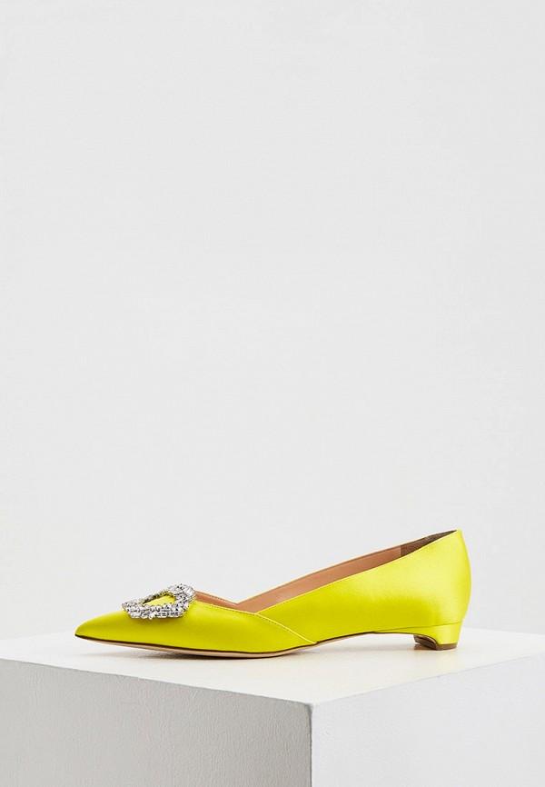 женские туфли с закрытым носом rupert sanderson, желтые
