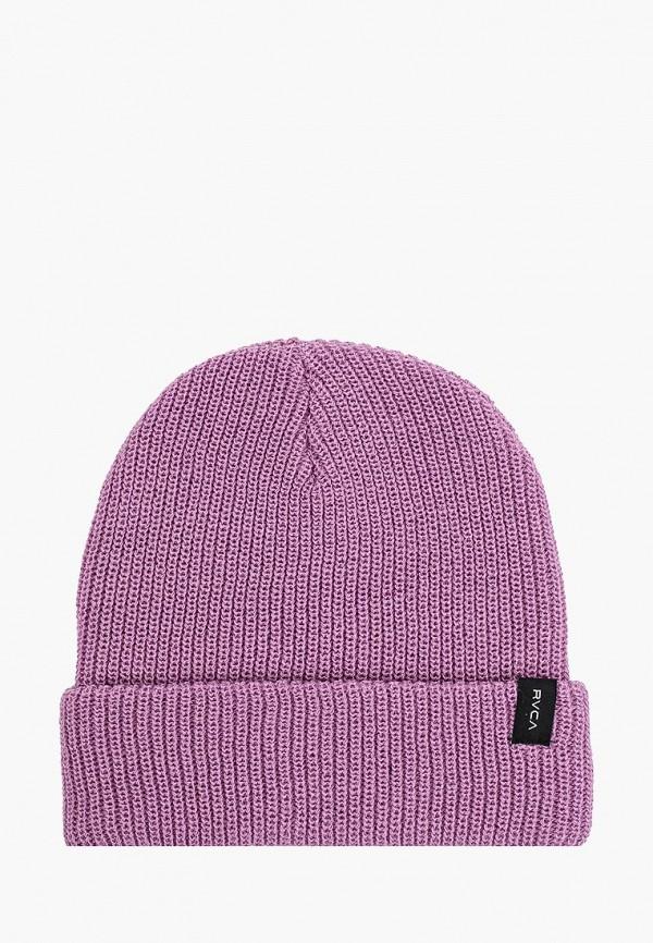 мужская шапка rvca, фиолетовая