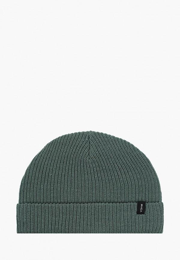 мужская шапка rvca, зеленая