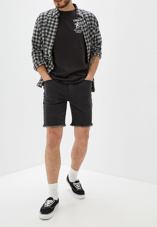 Фото 2 - Шорты джинсовые RVCA черного цвета