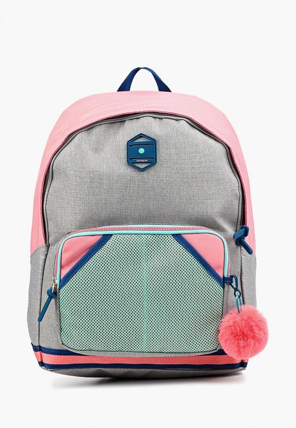 рюкзак samsonite для девочки, серый