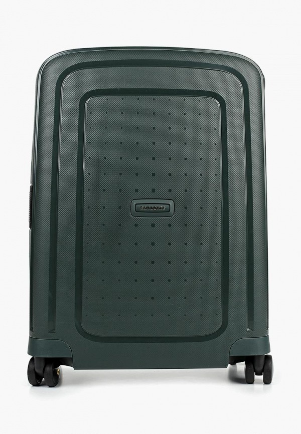 женский чемодан samsonite, зеленый