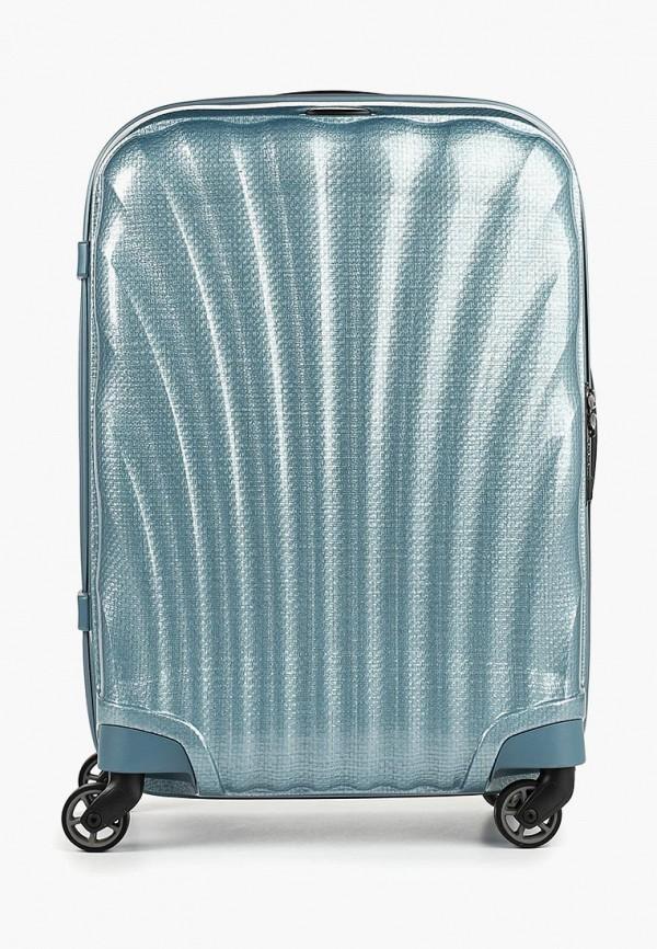 женский чемодан samsonite, голубой