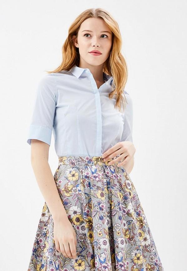 женская рубашка с коротким рукавом savage, голубая