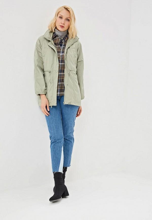 Фото 2 - женское пальто или плащ Savage зеленого цвета