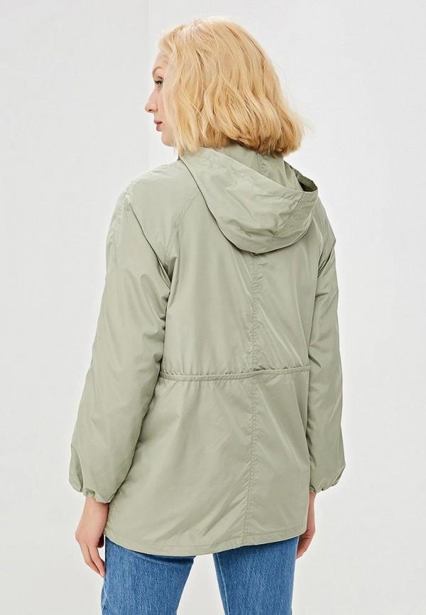 Фото 3 - женское пальто или плащ Savage зеленого цвета