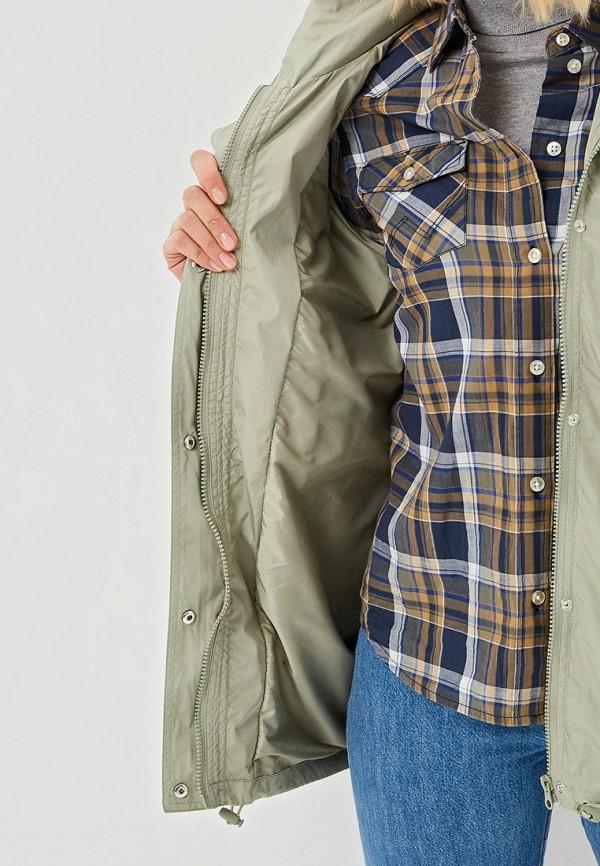 Фото 4 - женское пальто или плащ Savage зеленого цвета
