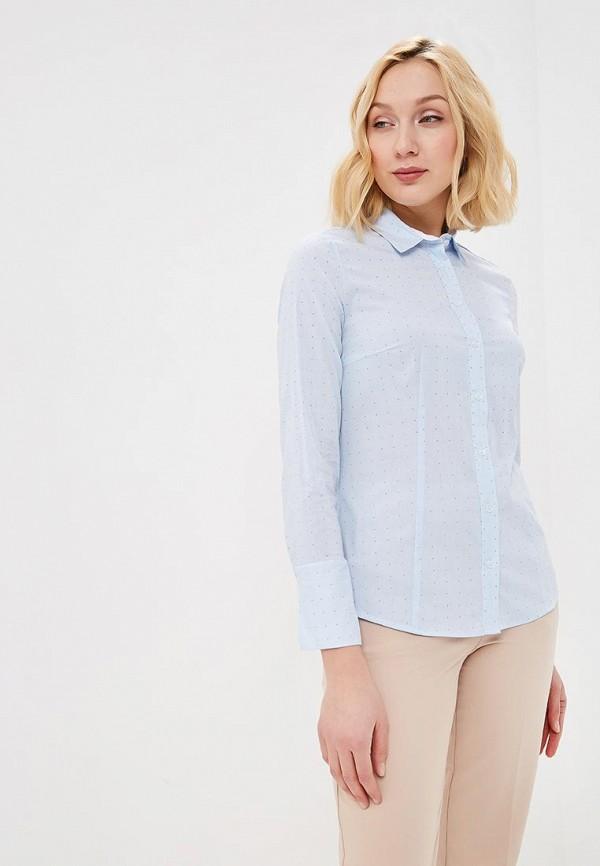 женская рубашка с длинным рукавом savage, голубая