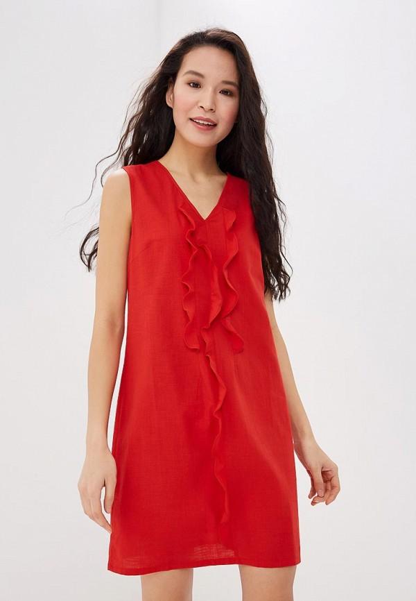 женское повседневные платье savage, красное