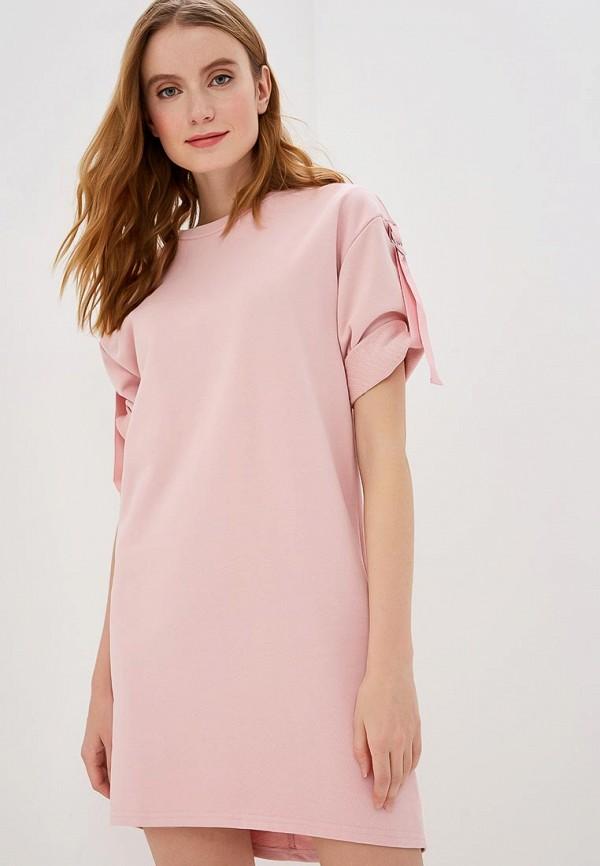 женское платье savage, розовое