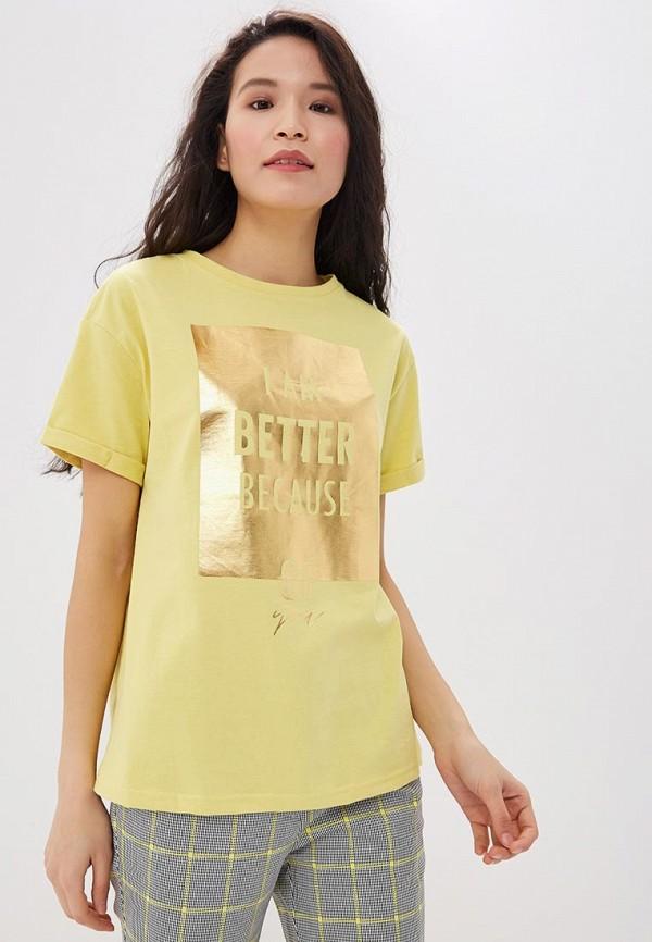 женская футболка savage, желтая