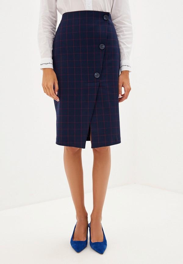 женская прямые юбка savage, синяя