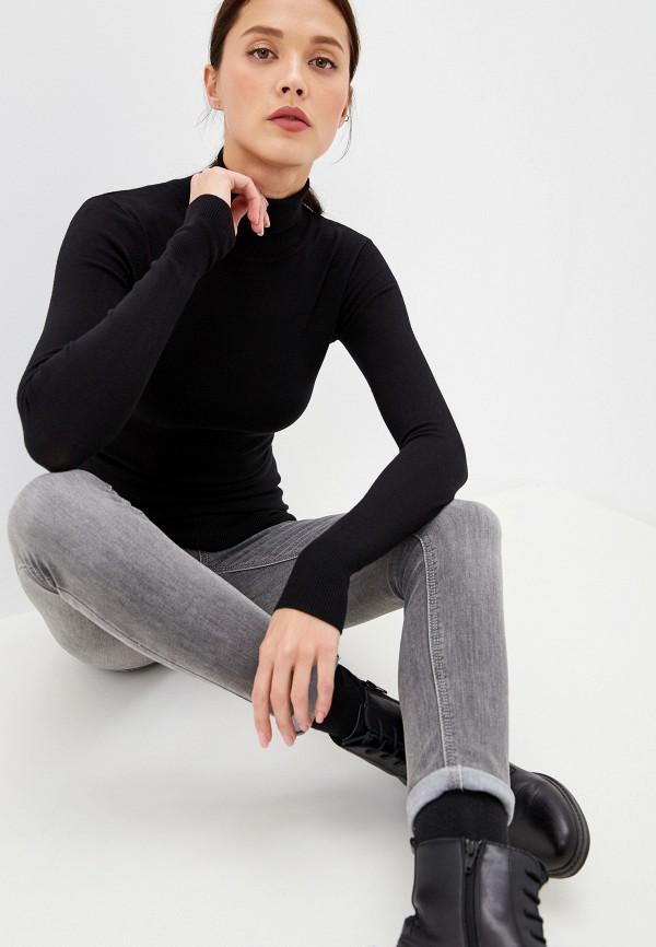 женская водолазка savage, черная