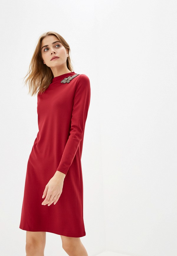 женское повседневные платье savage, бордовое