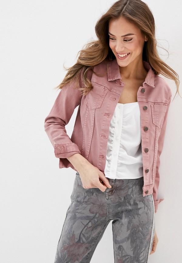 женская джинсовые куртка savage, розовая