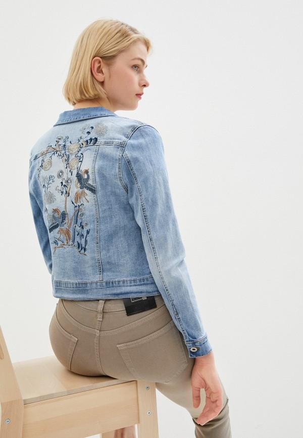 женская джинсовые куртка savage, синяя