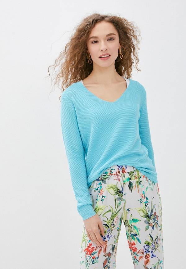 женский пуловер savage, бирюзовый