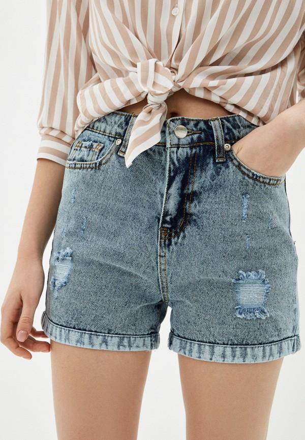 женские джинсовые шорты savage, голубые