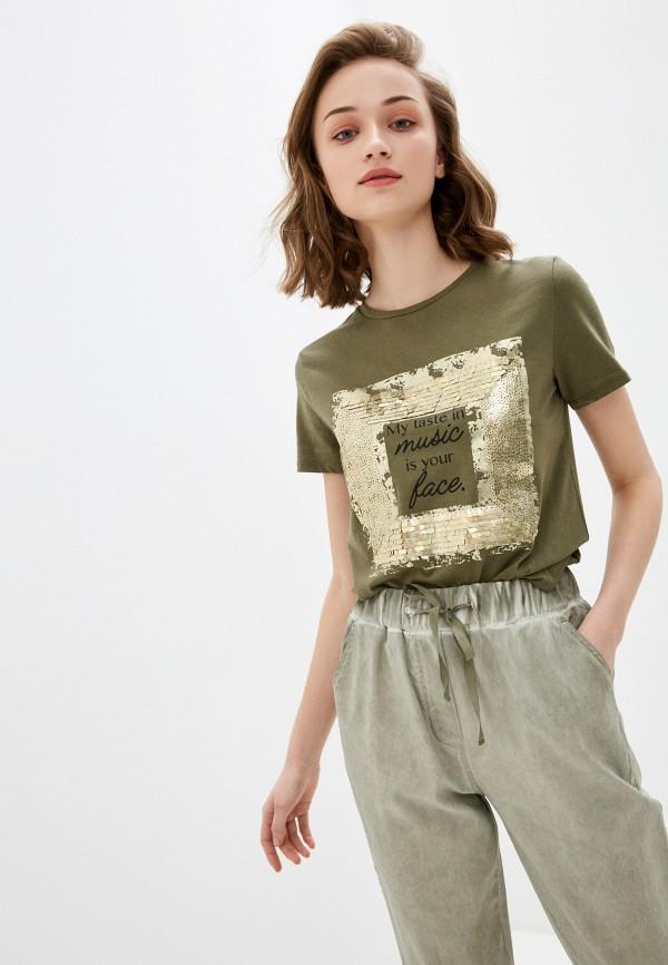 женская футболка savage, хаки