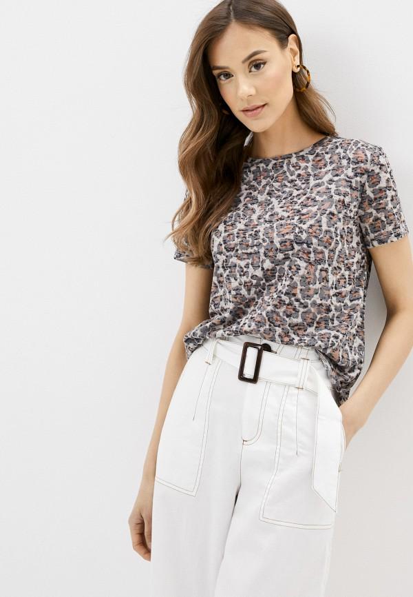 женская футболка savage, коричневая