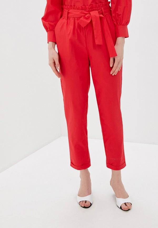 женские повседневные брюки savage, красные