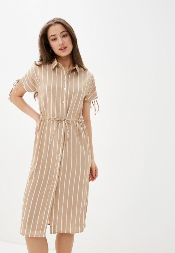женское платье savage, бежевое