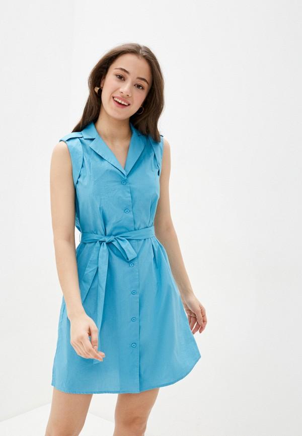 женское платье savage, голубое