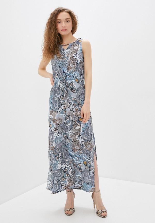 женское повседневные платье savage, голубое