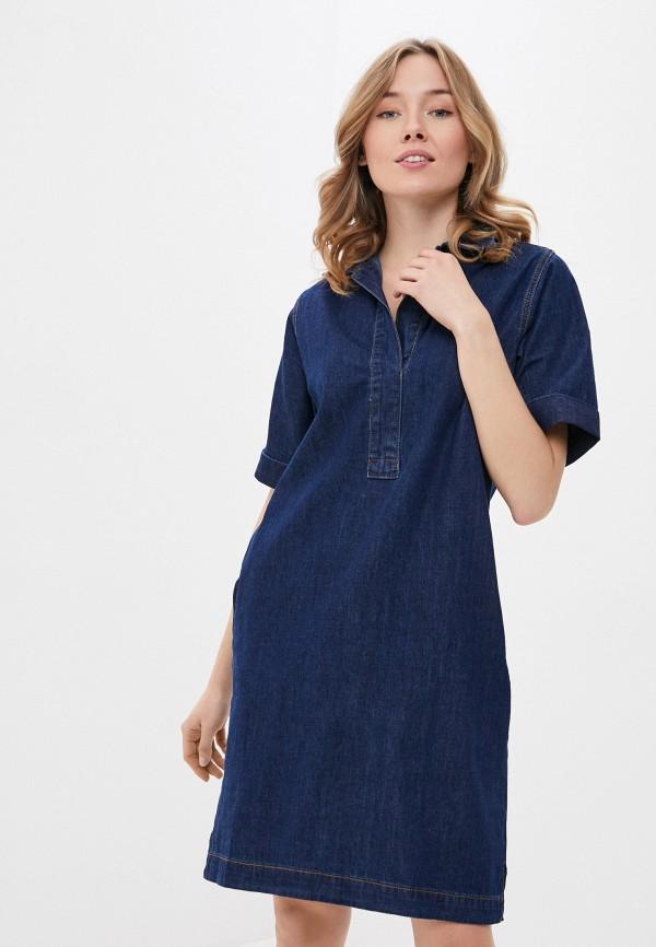 женское джинсовые платье savage, синее