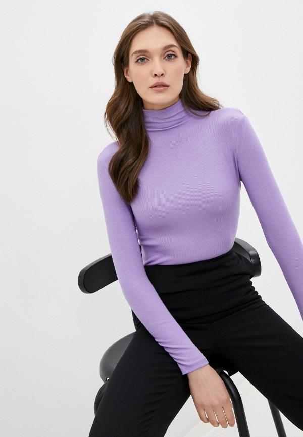 женская водолазка savage, фиолетовая