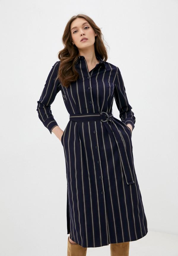 женское платье savage, синее