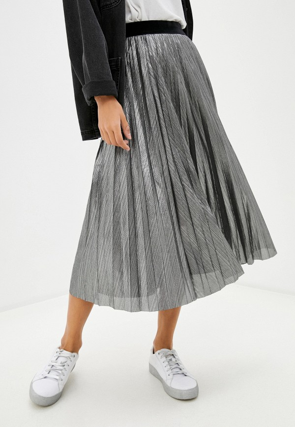 женская юбка savage, серебряная