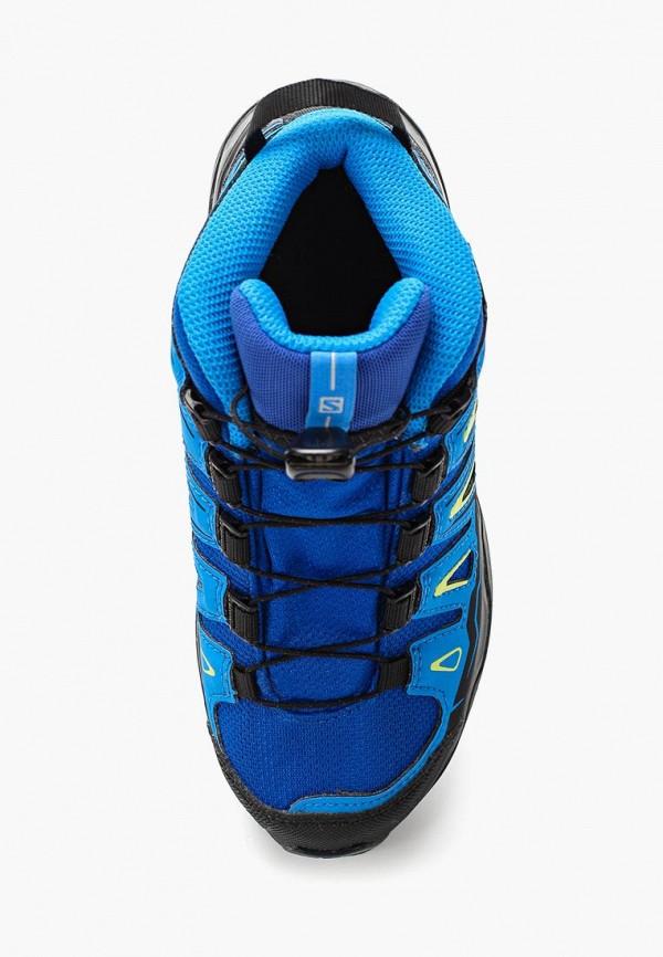 Фото 4 - Ботинки трекинговые Salomon синего цвета