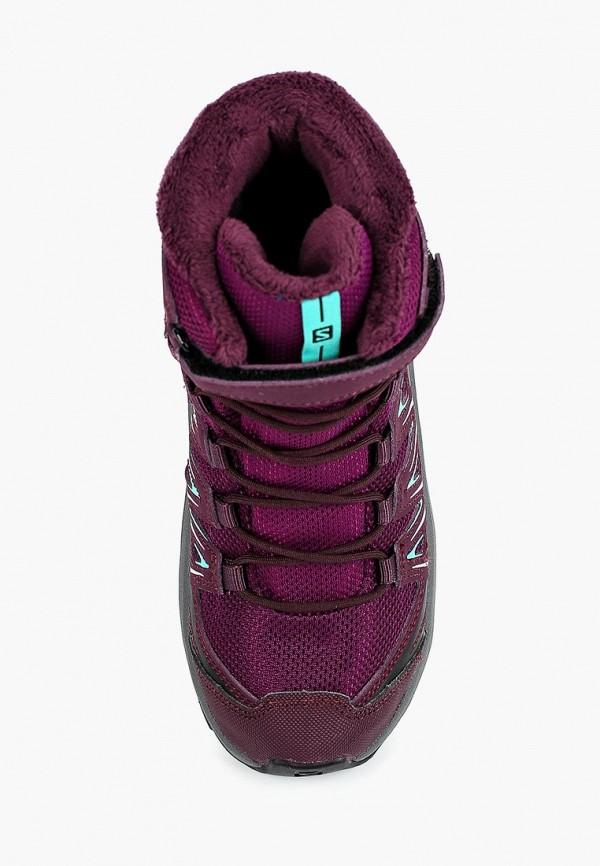 Фото 4 - Ботинки трекинговые Salomon фиолетового цвета