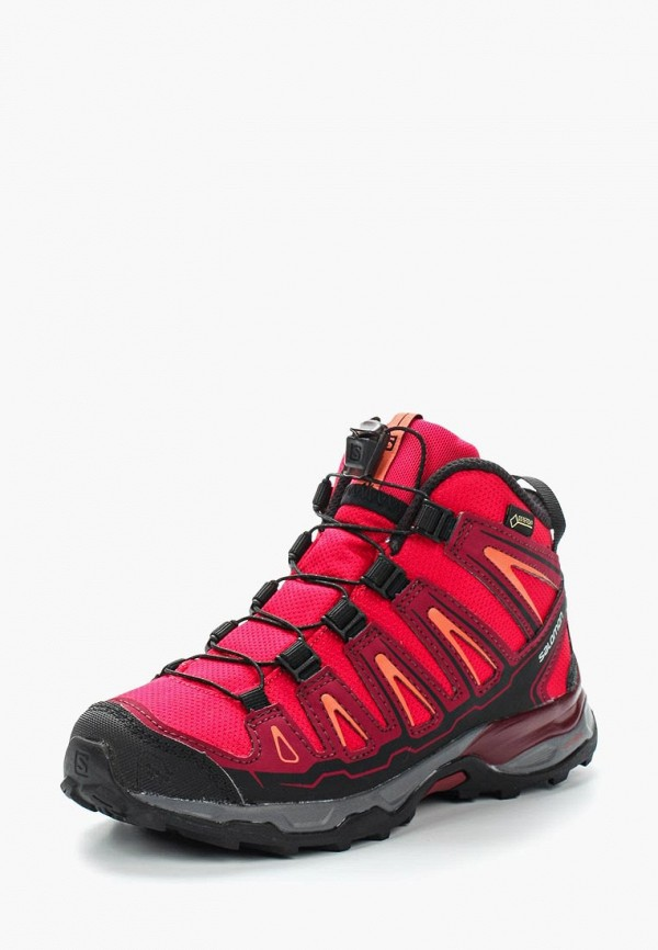 ботинки salomon для девочки, розовые