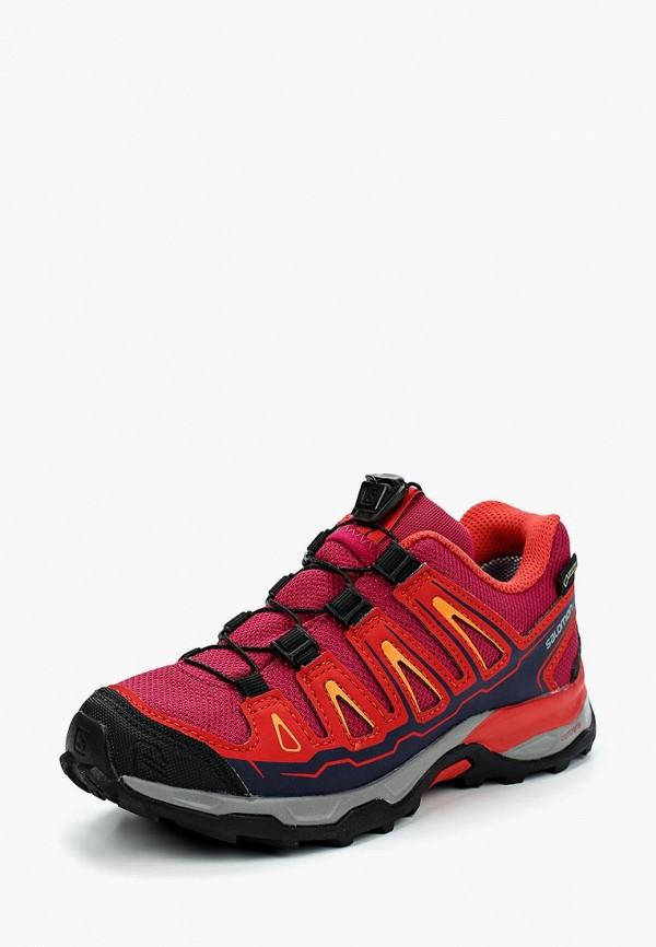 кроссовки salomon для девочки, бордовые