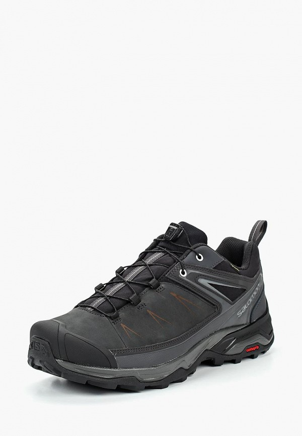Фото - мужские кроссовки Salomon серого цвета