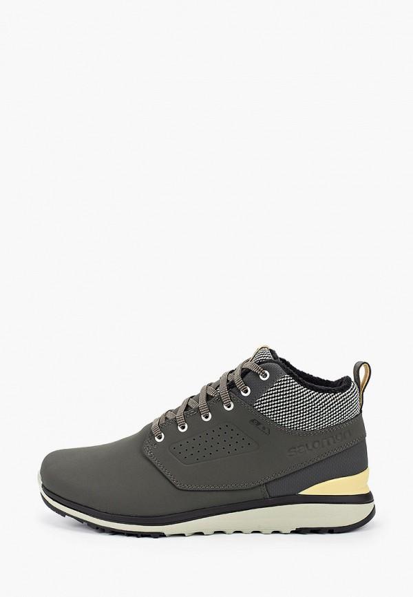 мужские низкие ботинки salomon, серые