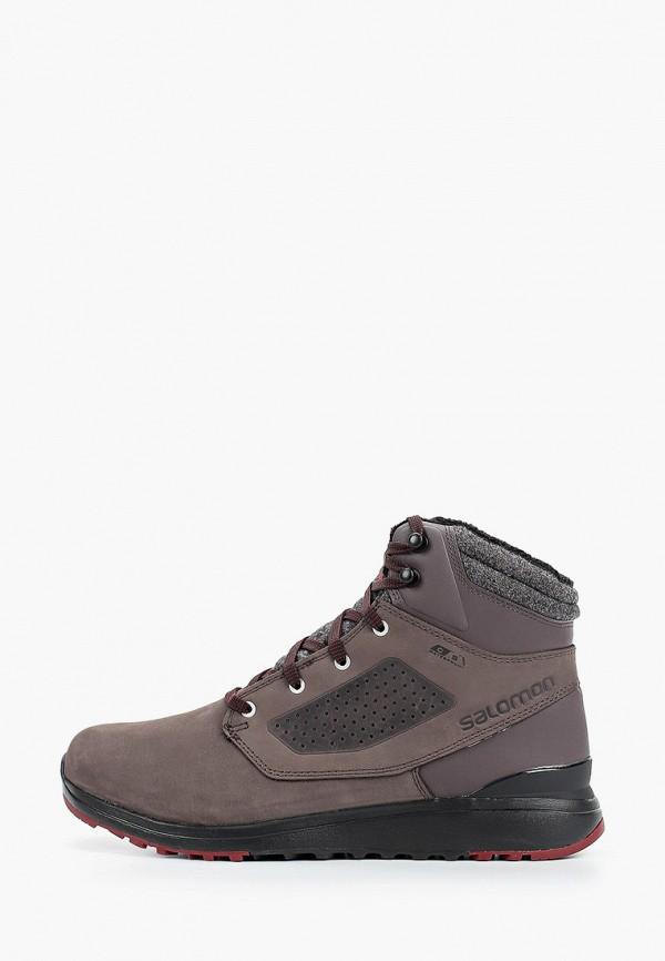 мужские высокие ботинки salomon, серые