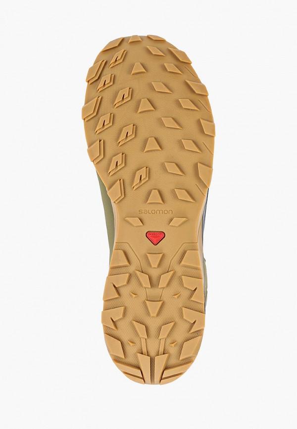 Фото 5 - Ботинки трекинговые Salomon цвета хаки