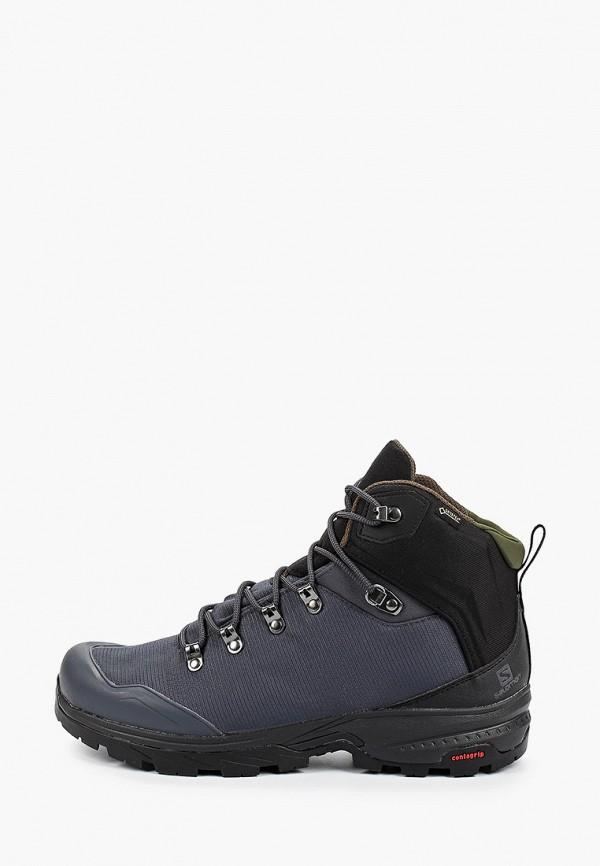 мужские ботинки salomon, серые