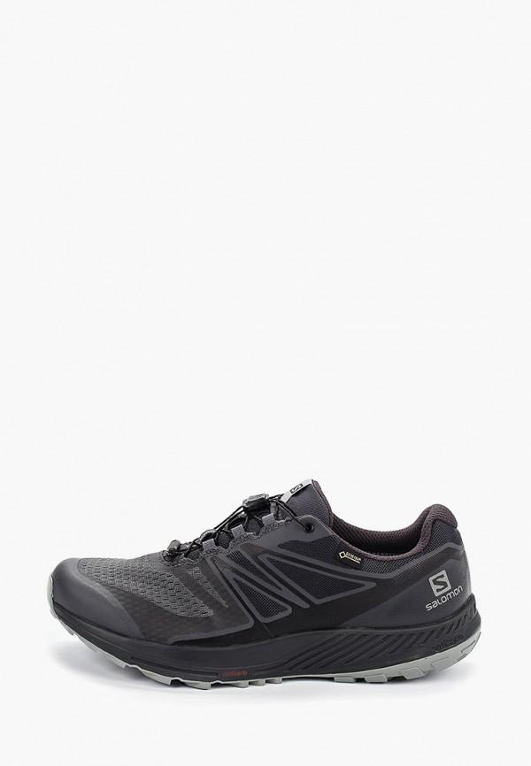 Фото - мужские кроссовки Salomon черного цвета