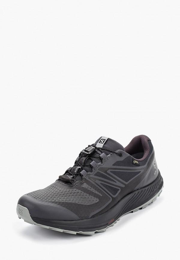 Фото 2 - мужские кроссовки Salomon черного цвета